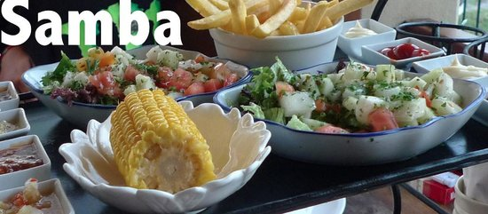 Samba Grill Cafe : Side dishes, 'The Confusion' ;-)