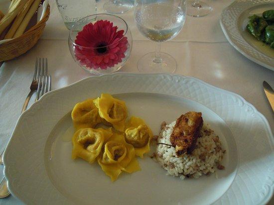 bis di pasta: tortelli di zucca e risotto alla mantovana