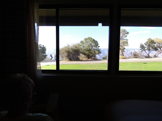 Thunderbird Lodge : View from our window that has sliding screens, nice breeze