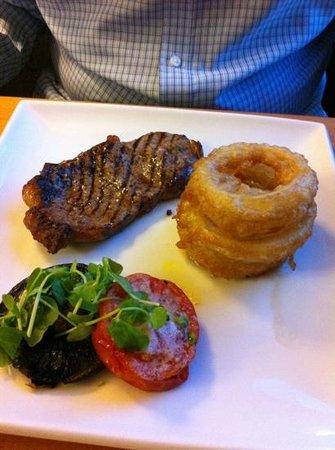 Stallingborough Grange Hotel: steak and huge onion rings!