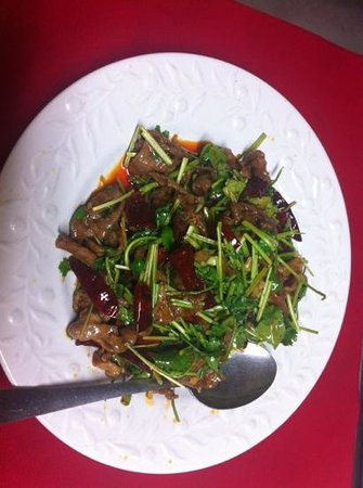 Hunan King: Lamb with special Chinese sauce 孜然羊肉
