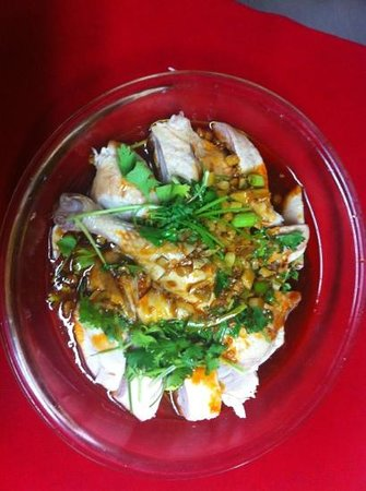 Hunan King: chicken with hot sauce口水鸡