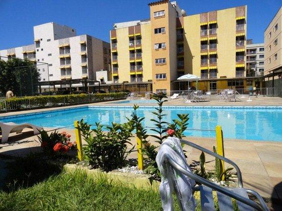 Caribe Park Hotel: foto da piscina q fica nos fundos
