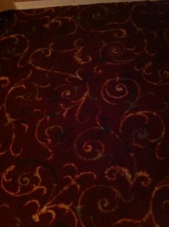Hotel Acacia: worn old carpet internally