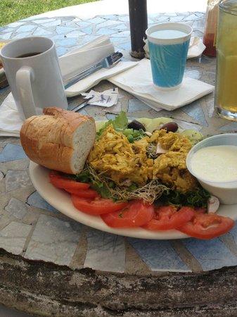 Pannikin Encinitas Cafe: Pretty but way too sweet curry chicken salad.  No flavor dressing.