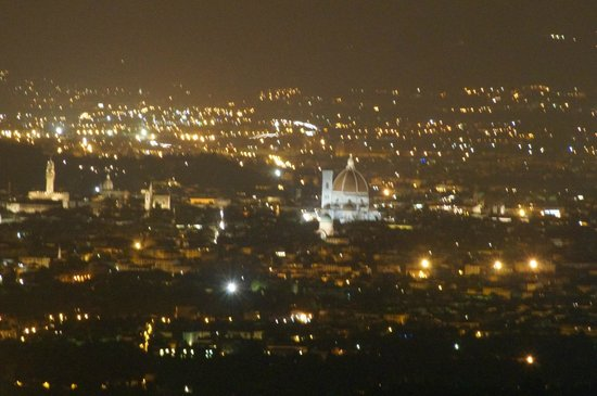 Casale Fontibucci: Florence at night from grounds