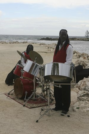 Grand Bahia Principe Jamaica: Steel drum on our wedding day