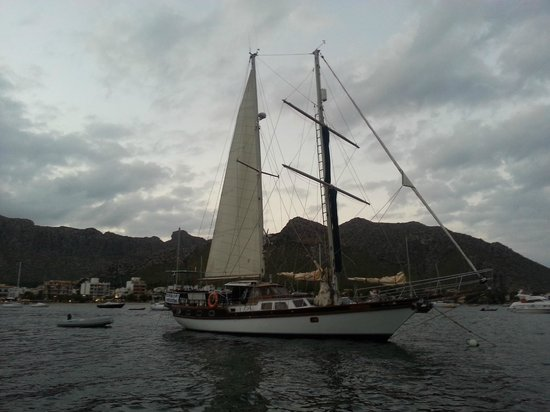 Tudor Dawn Sailing Charters : The Tudor Dawn After Sunset