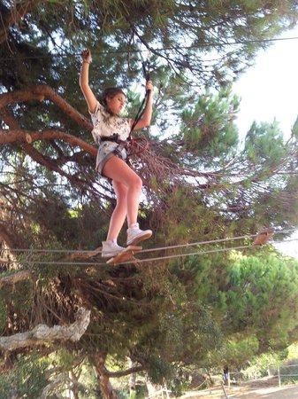 Luso Aventura Albufeira: On the rope ladder