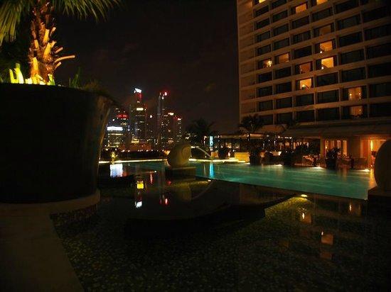 Mandarin Oriental, Singapore: Pool view on Marina Bay
