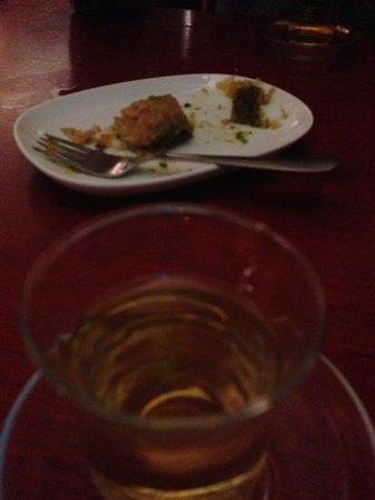 Troy: apple tea and baklava
