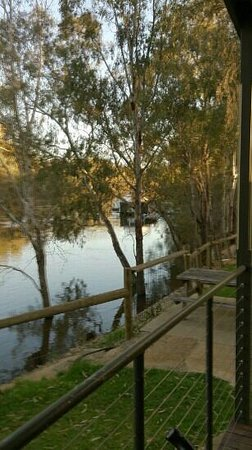 Moama Riverside Holiday & Tourist Park: the view from our cabin