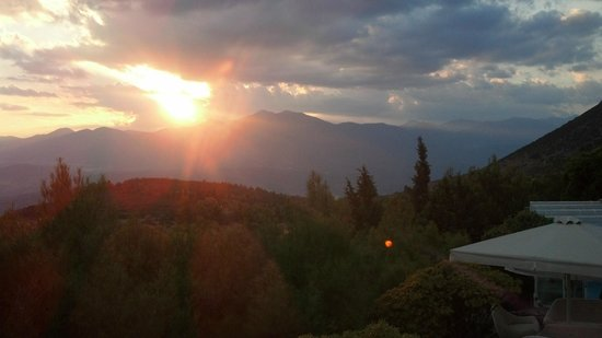 Delphi Palace: view from the hotel of the sunset