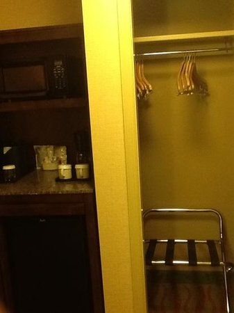 Hilton Garden Inn Arlington Courthouse Plaza : each room has a small fridge and microwave.