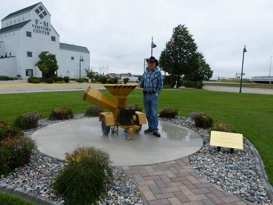 Fargo-Moorhead Visitors Center: By the woodchipper