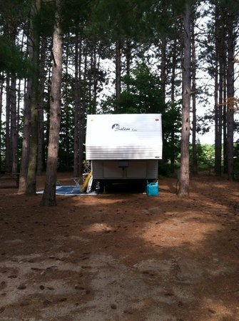 Empire Township Campground: Our site