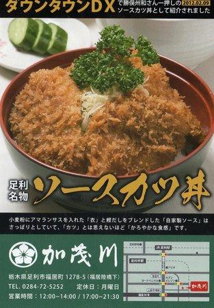 Kamogawa: 足利名物 ソースカツ丼