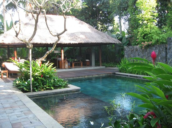 Kayumanis Ubud Private Villa & Spa: View of the pool looking toward the dining/lounging area