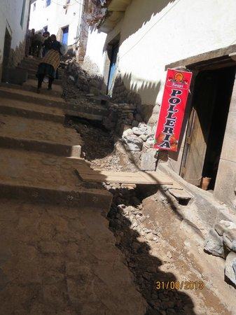 La Morada: Vía de acceso al hotel
