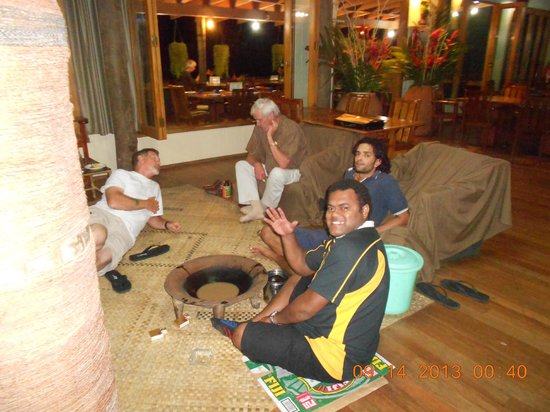 Colo I Suva Rainforest Eco Resort: drinking Yaqona with Friend Mr. Davis Epeli and Arthur