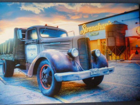 Stranahan's Colorado Whiskey Tour: Art on the wall