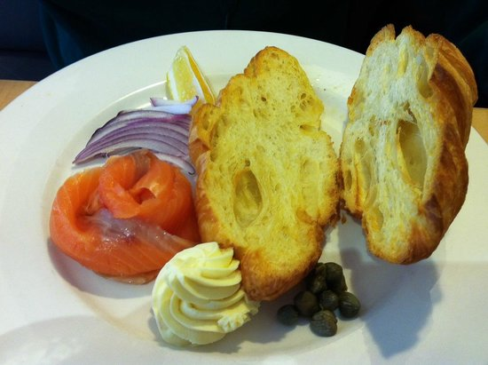 Penelope: Deconstructed salmon bagel