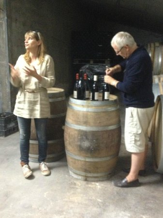 La Madelene : Wine tasting with Philip