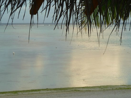 Etu Moana: Calm lagoon from Villa 10