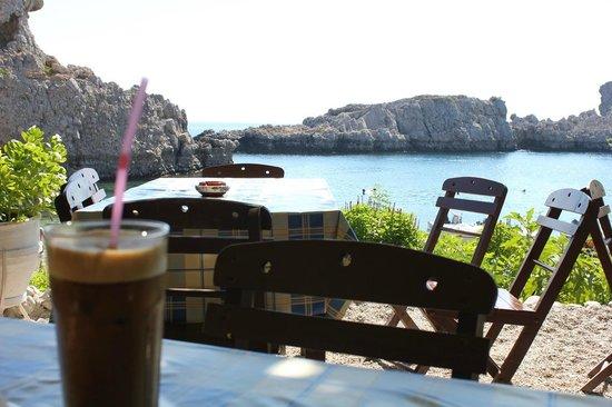 Agios Pavlos Beach (Saint Paul): Relax al bar