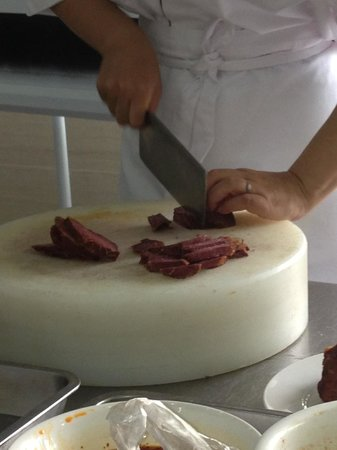 Cooking School In China: Chopping beef