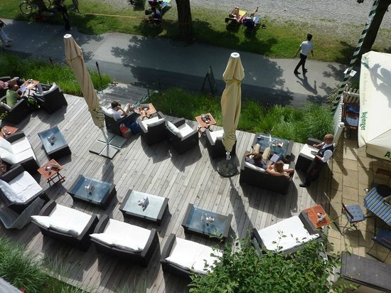 Ammersee Hotel: Lakeside terrace