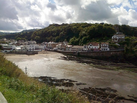 Sandaway Beach Holiday Park: Tide out at Combe Martin