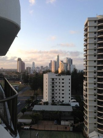 Ocean Royale: view back to surfers paradise