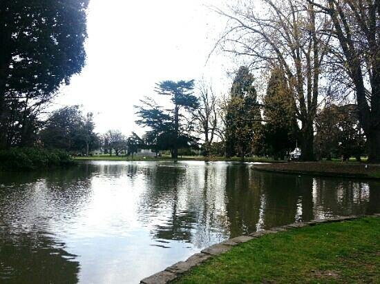 Caulfield Park: Peaceful lake in the middle of the park