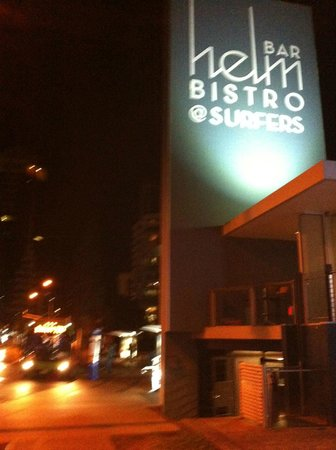 Helm Bar & Bistro: outside the club