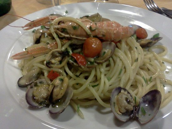 Residence Villa Cristina: pasta frutti di mare