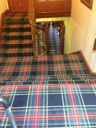 Loch Ness Lodge: stairs to entrance