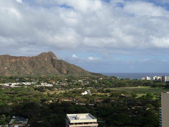 Aston Waikiki Sunset: ラナイからダイアモンドヘッドが