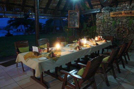 Paradise Taveuni: Tafel gedekt voor de Fijian Night