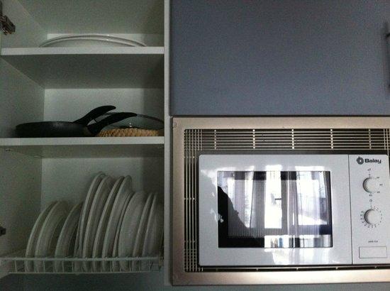 Hotel Apartamentos Arrizul: Cocina salón