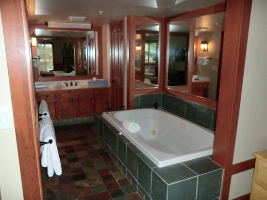 Embarc Whistler: 寝室横のジャグジーバス