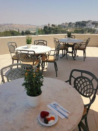 The Inbal Jerusalem: Exec Lounge balcony