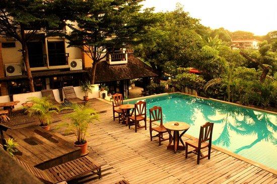 Rainforest Boutique: piscine de l'hôtel