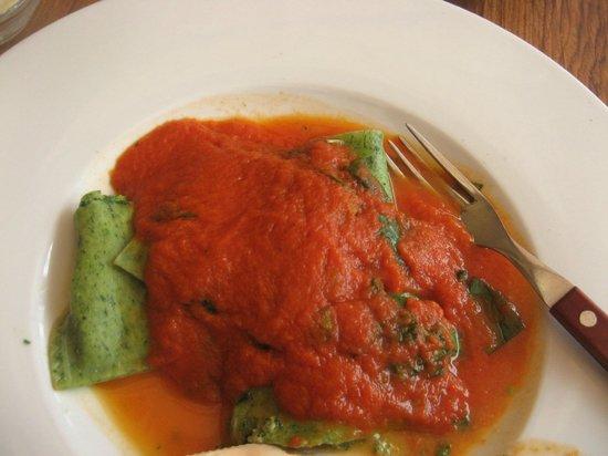 Corleone Restorante Pizzeria Andel : ravioli ricotta e spinaci