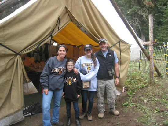 A-OK Corral / Horse Creek Ranch: in front of the mess hall