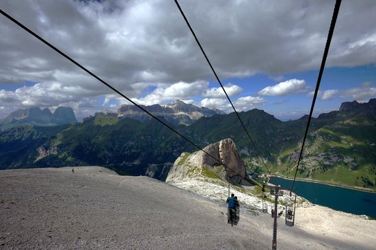 Marmolada: Panoramic view from the lift