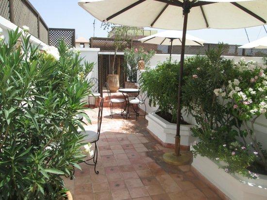 Riad Clémentine : terrasse