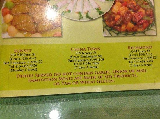 Enjoy Vegetarian Restaurant Locations