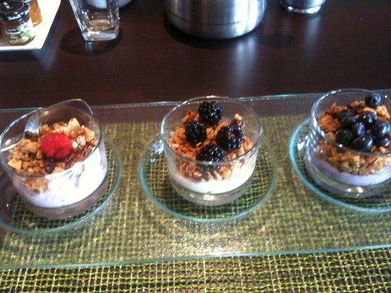 San Francisco Airport Marriott Waterfront: Yogurt and Fruit - 3 kinds!