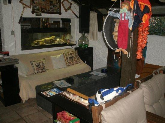 Oasis: indoor bar area.